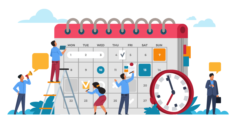 Planning calendar graphic