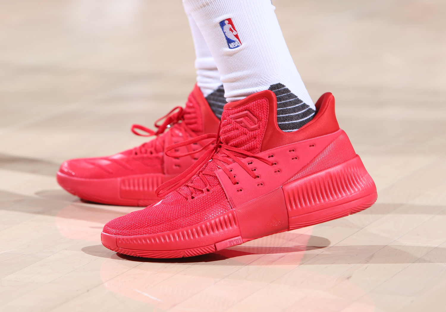 Image result for adidas dame 3 on court