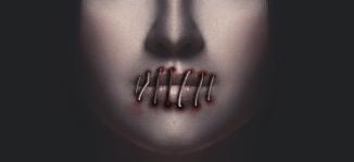 Lips sewn shut