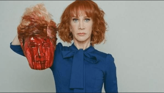 Left Wing Violence - Kathy Griffin holds severed Donald Trump head