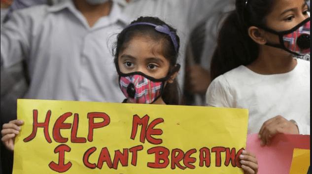 climate catastrophe - air pollution