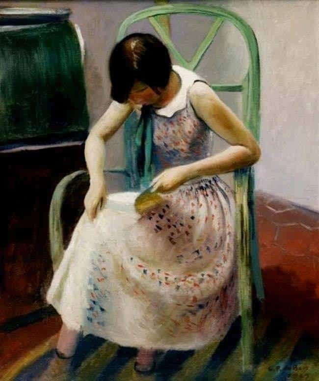 Guy Pène du Bois (1884 - 1958) Girl Reading a Book