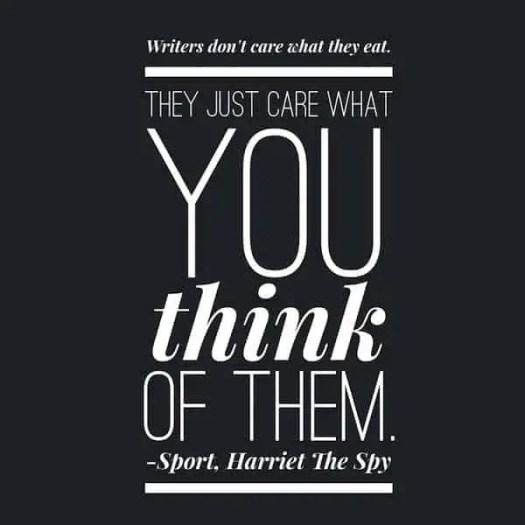 Harriet The Spy Food quotation