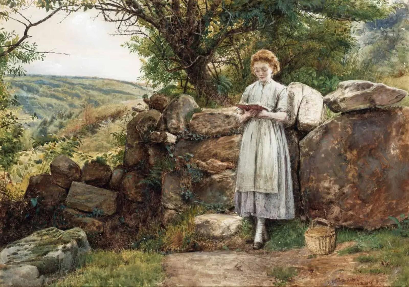 George Goodwin Kilburne - A Peaceful Read 1869