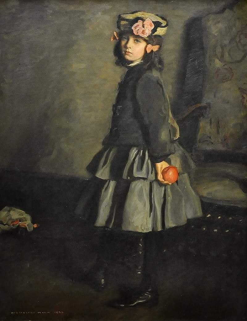 Harrington Mann (Scottish, 1864 - 1937) Cathleen, 1906 girl with apple