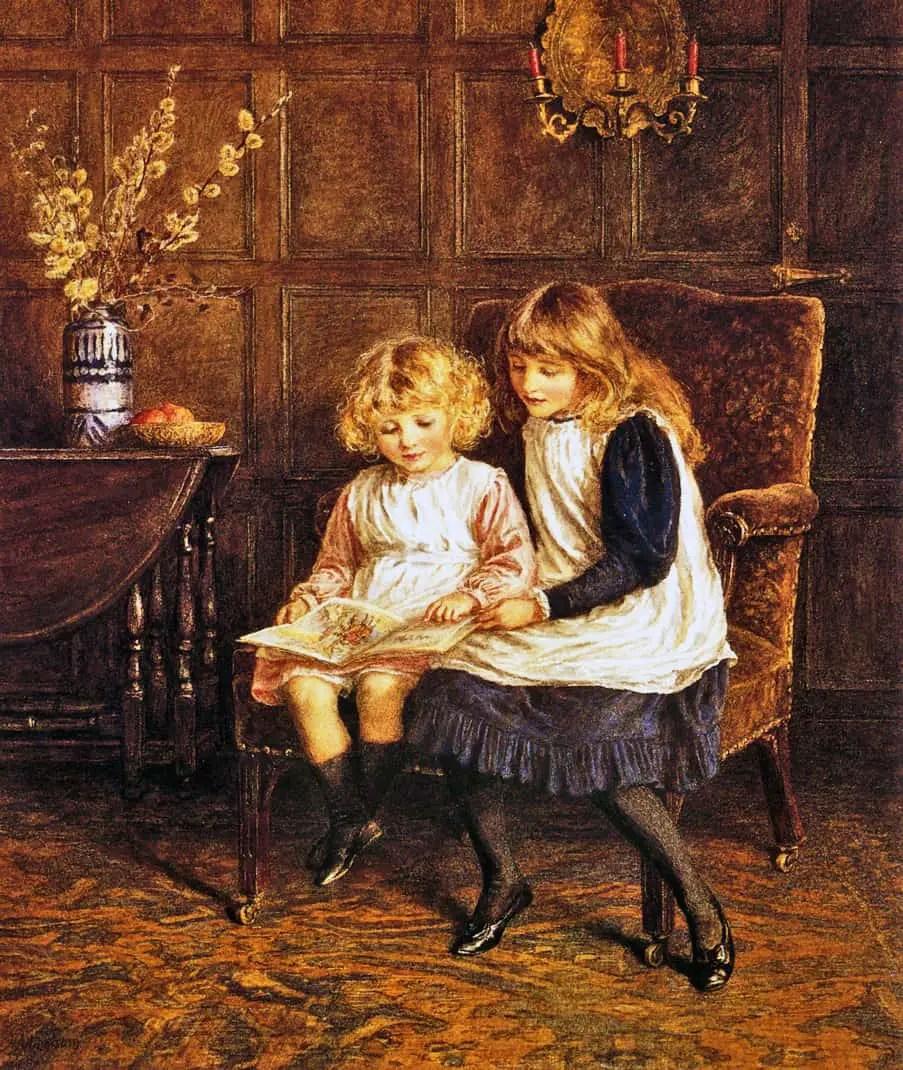 Helen Allingham - The Reading Lesson
