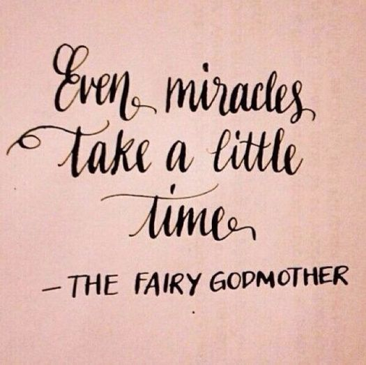 even miracles take a little time