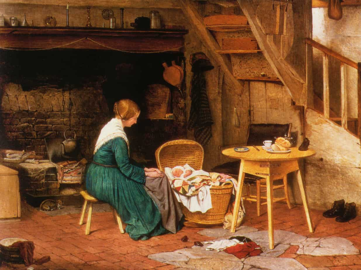 Benjamin Leader - The Young Mother hearth