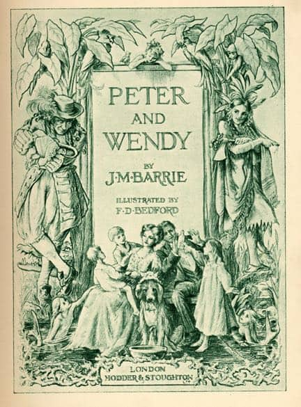 Early Peter Pan cover. Peter Pan considers mothers very overrated.