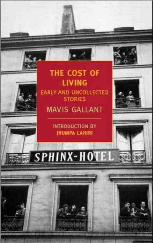 The Cost Of Living Book Cover Mavis Gallant