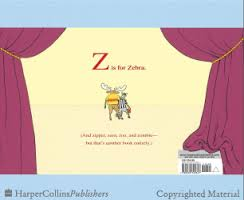 Z Is For Moose Back Cover