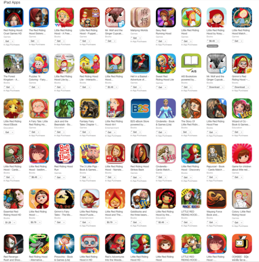 App Store Red Riding Hood Apps