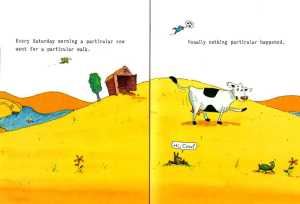 A Particular Cow Double Spread