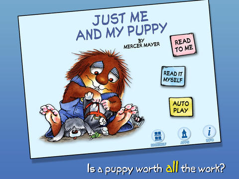 Just Me And My Puppy App Title Page