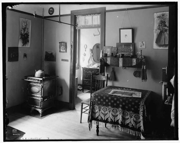 A slum tenement in New York circa 1910