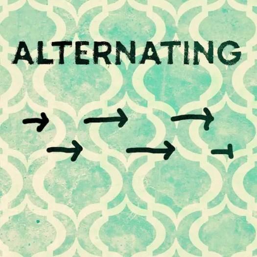 alternating plot shape