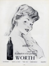 A Je Reviens perfume advertisement from 1955