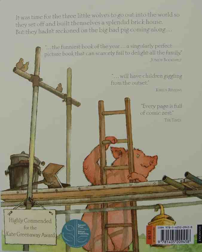 As you can see from the back cover, this book was shortlisted for the Kate Greenaway Award.