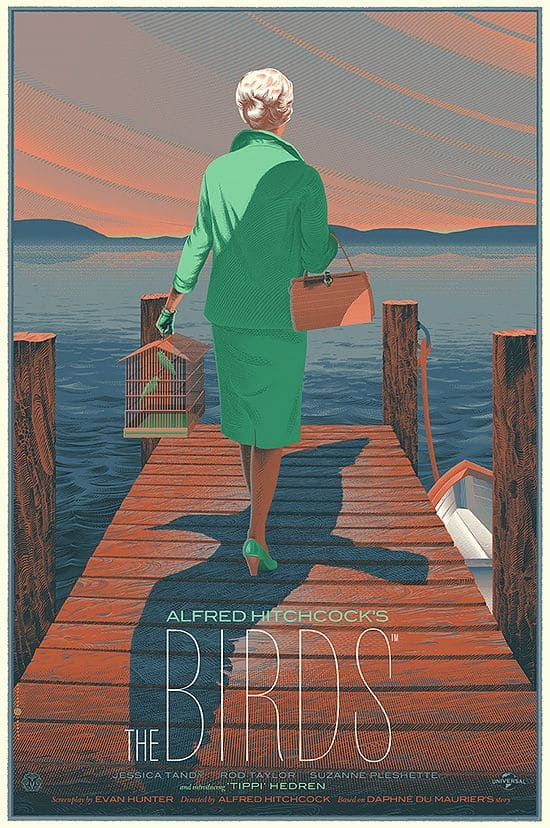 Alfred Hitchcock's The Birds movie poster