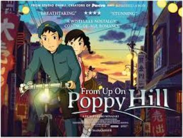 From Up On Poppy Hill even uses the riding bitch trope as a promotional image