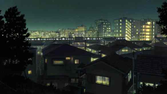 a Tokyo 'mountain' scenery with buildings instead of landforms