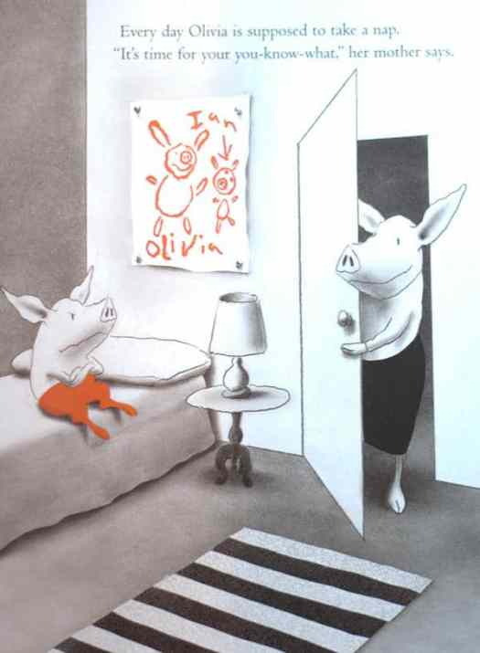 Olivia bedroom illustration