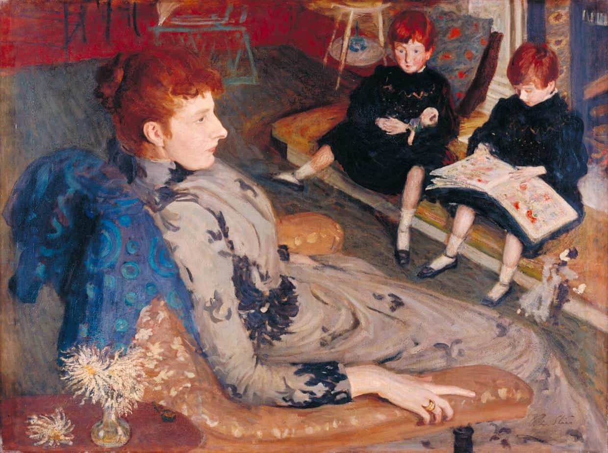 Philip Wilson Steer Mrs Cyprian Williams and her Two Little Girls 1891