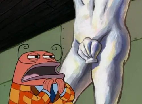 Sponge Bob statue