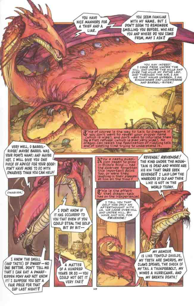 from the graphic novel version of The Hobbit