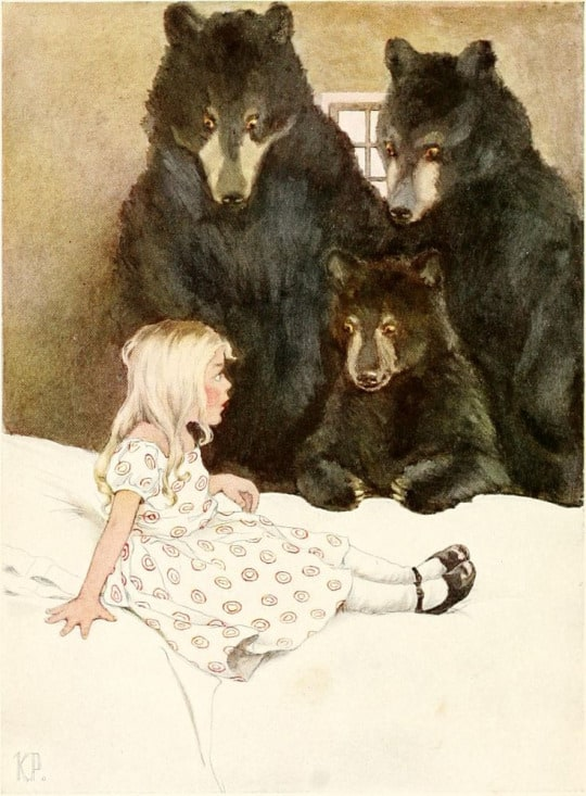 Goldilocks and the Three Bears by Katharine Pyle - Boucle d'OrGoldilocks and the Three Bears by Katharine Pyle - Boucle d'Or