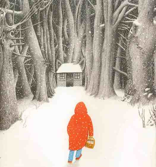 Little Red Riding Hood scene from Into The Forest by Anthony Browne