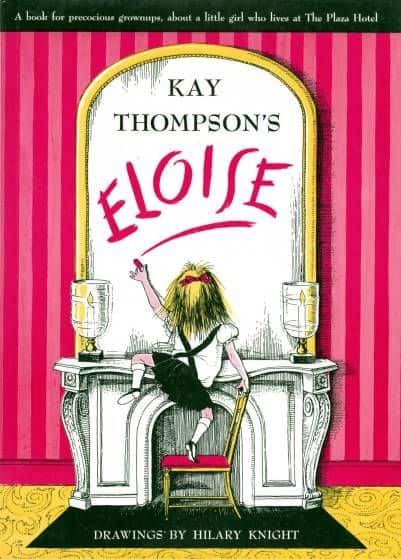 By Kay Thompson, illustrations by Hilary Knight. An adventurous and confident young girl lives on the top floor of a New York hotel with her nanny, a dog, and a turtle.