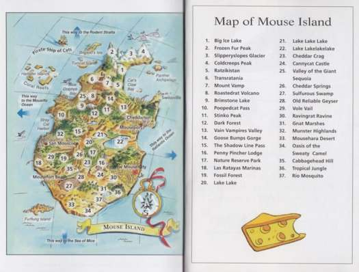 Geronimo Stilton: Treasure of the Emerald Eye. Any children's book set on an island with treasure and maps and pirates is probably a spoof of Treasure Island.