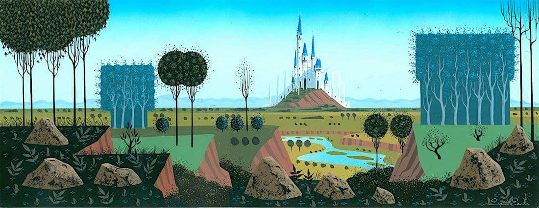 Eyvind Eearle ca.-1959- Sleeping Beauty cconcept painting for Disney