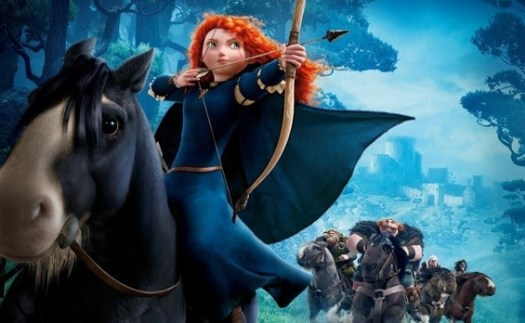 brave merida fighting warrior