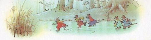 In cosy stories, even winter rivers are for having fun