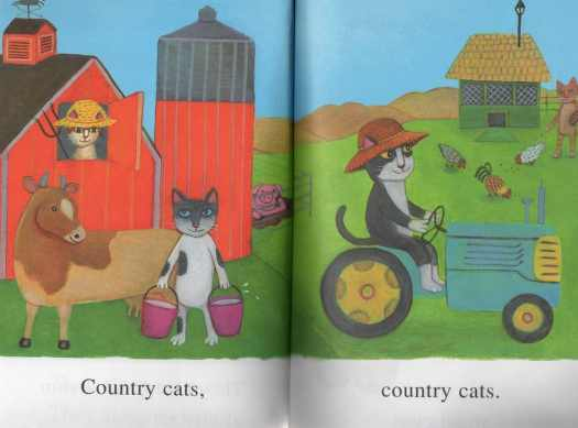 City Cats, Country Cats from the Road To Reading series from Golden Books
