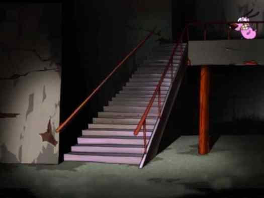 staircase in Courage the Cowardly Dog
