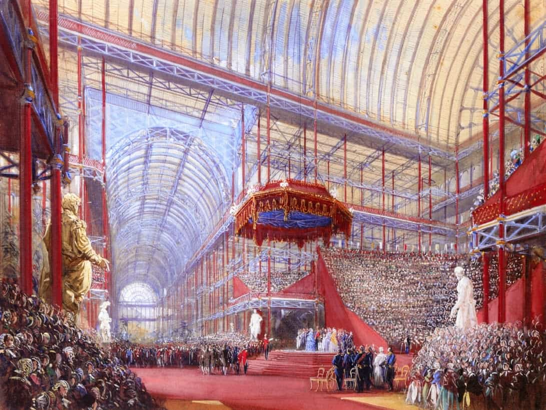 Joseph Nash - The Opening of the Crystal Palace, Sydenham, by Queen Victoria on 10th June 1854