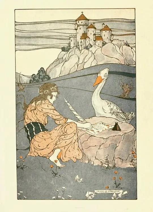 bird swan fairytale