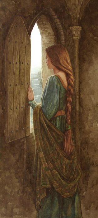 Eithlinn illustration by P.J. Lynch (Irish, b. 1962) for Moytura from 'The Names upon the Harp- Irish Myth and Legend' by Marie Heaney