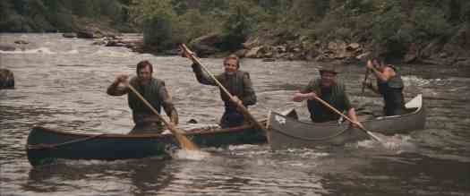 A desaturated scene from the river of Deliverance, which is beautiful in real life.