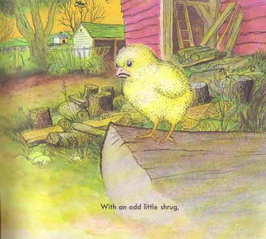 The Chicken Book with an odd little shrug
