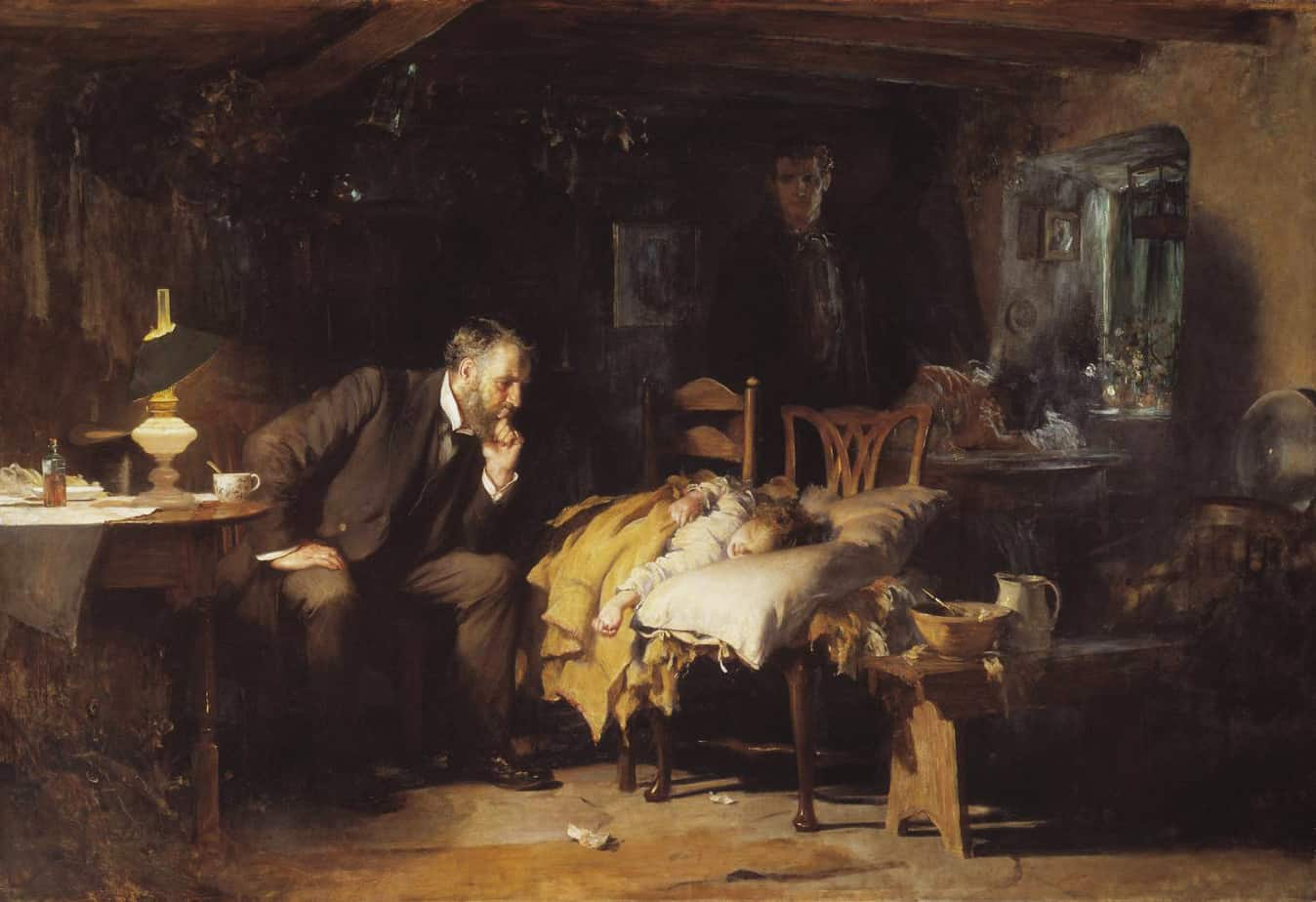 The Doctor exhibited 1891 Sir Luke Fildes 1843-1927 Presented by Sir Henry Tate 1894