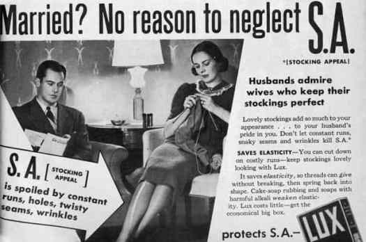 1960s ad telling women to keep stockings perfect