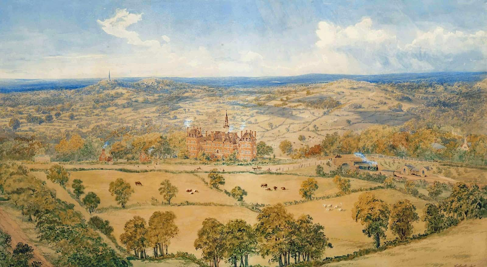 Thomas J. Banks - A Country House, in an Extensive Landscape
