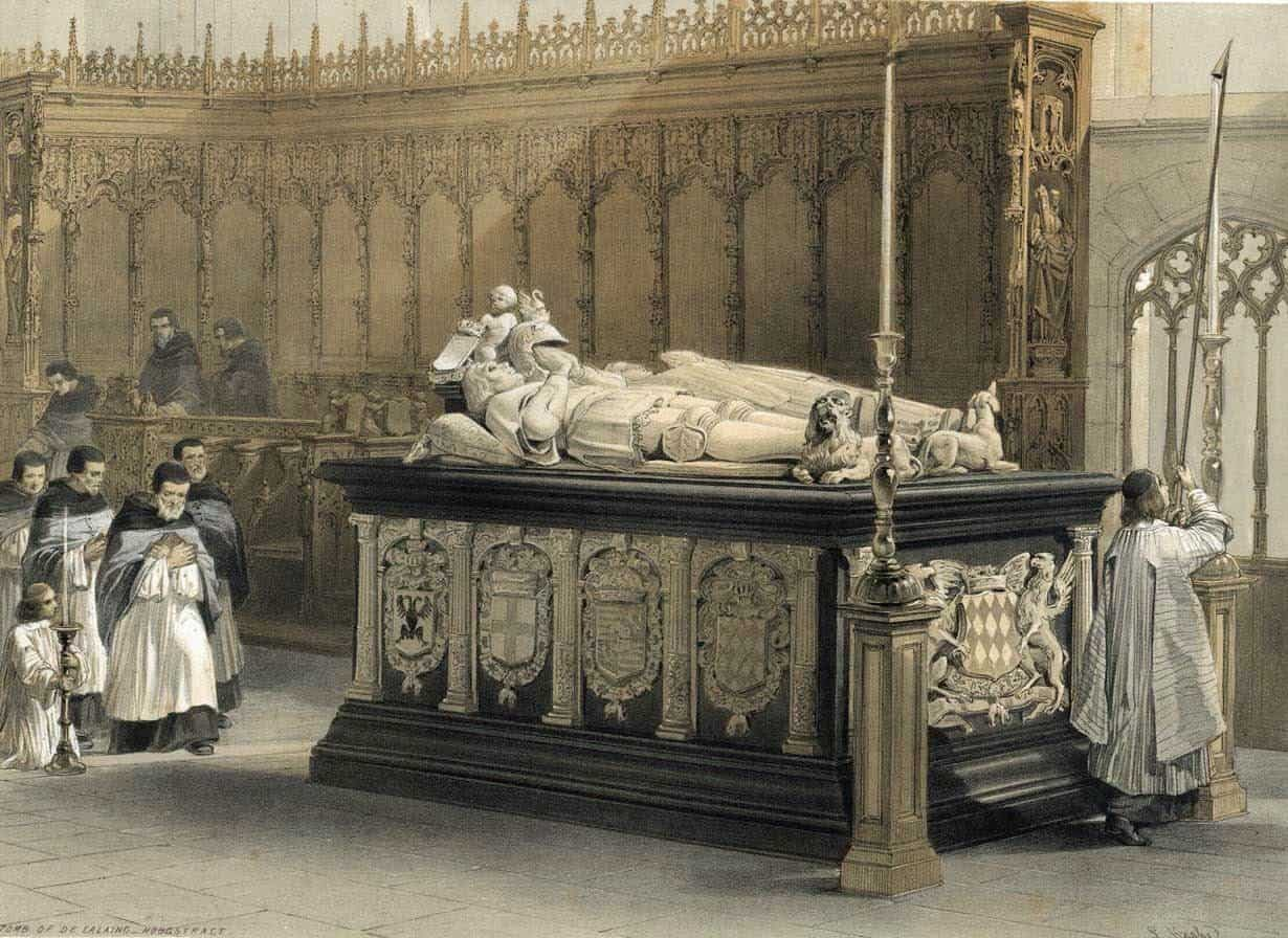Louis Haghe - Tomb de Lalaing Hoogstract 1850