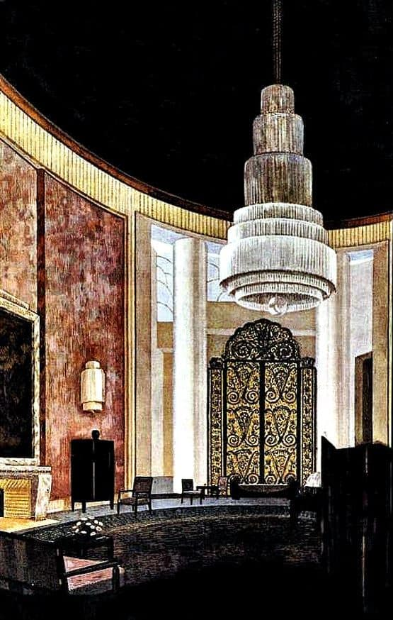 """Grand Salon"" Hôtel du Collectioneur, Paris 1925. Arch. Emile Jaques Ruhlmann"