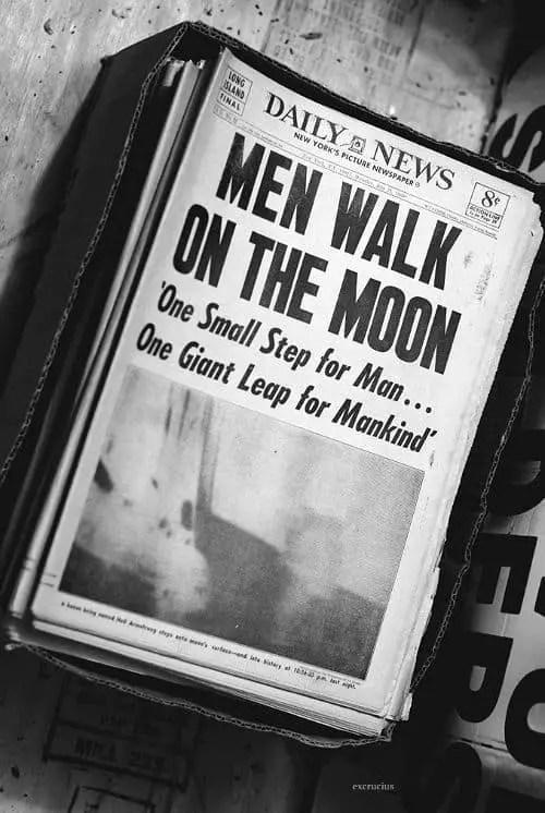 Men Walk On The Moon newspaper