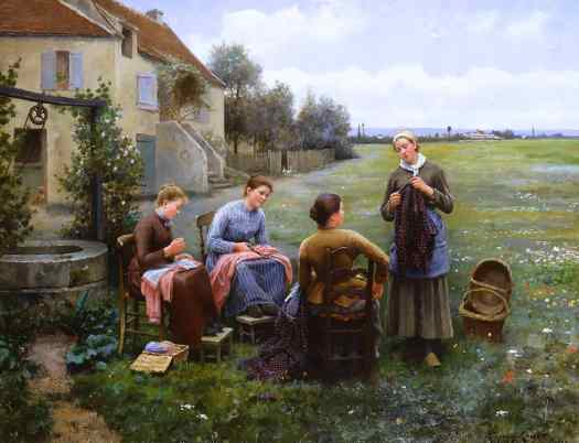 Daniel Ridgway Knight - The Sewing Circle